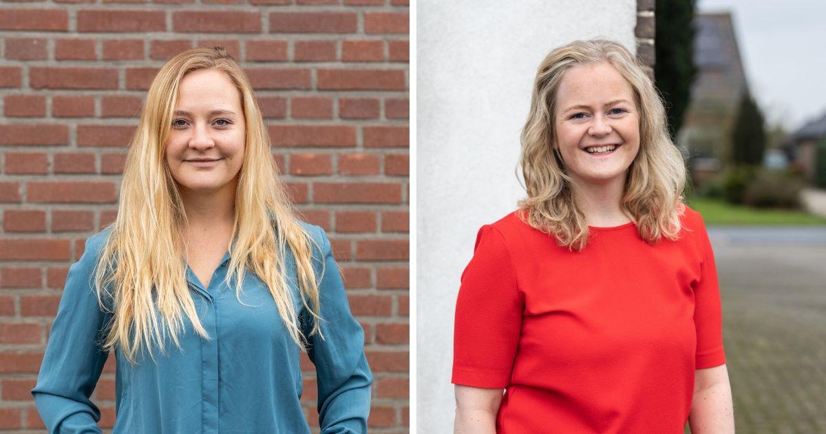 Coaches Tessa Leenen en Malissa Voordenhout