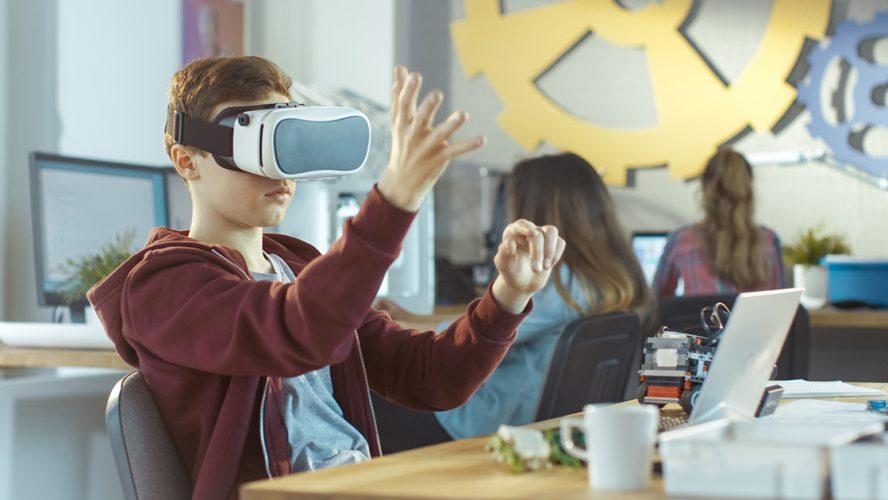 Kind met VR-bril