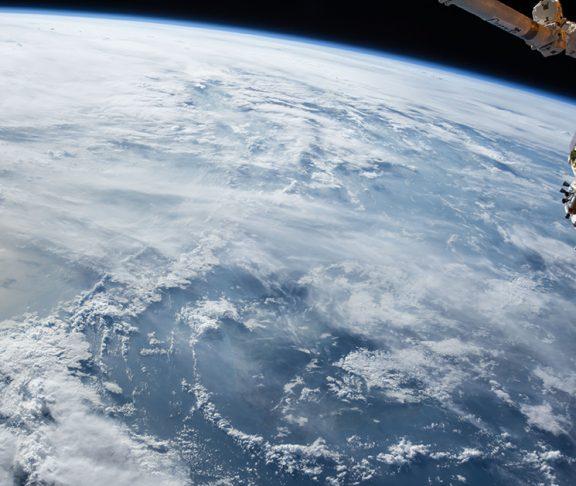Satellietfoto van aarde