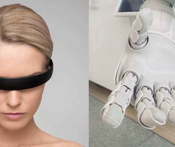 Futuristic woman AI
