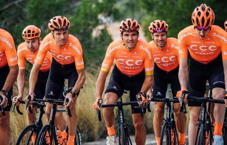 rowerzyści team ccc