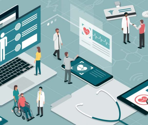 Illustration of health care industry