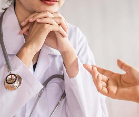Speaking to a doctor