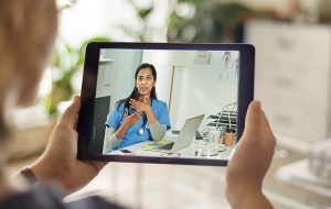 Patient video calling with a medical professional