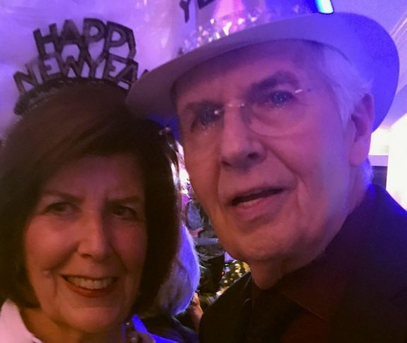 Dale and Nat Boidman celebrating New Year's Eve