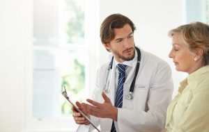 Doctor explaining results to patient
