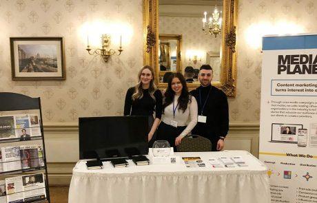 Mediaplanet marketing consultants Margot Thomas, Jessica Golyatov, and Jesse Adamson at the Future of Pharma Marketing Summit.
