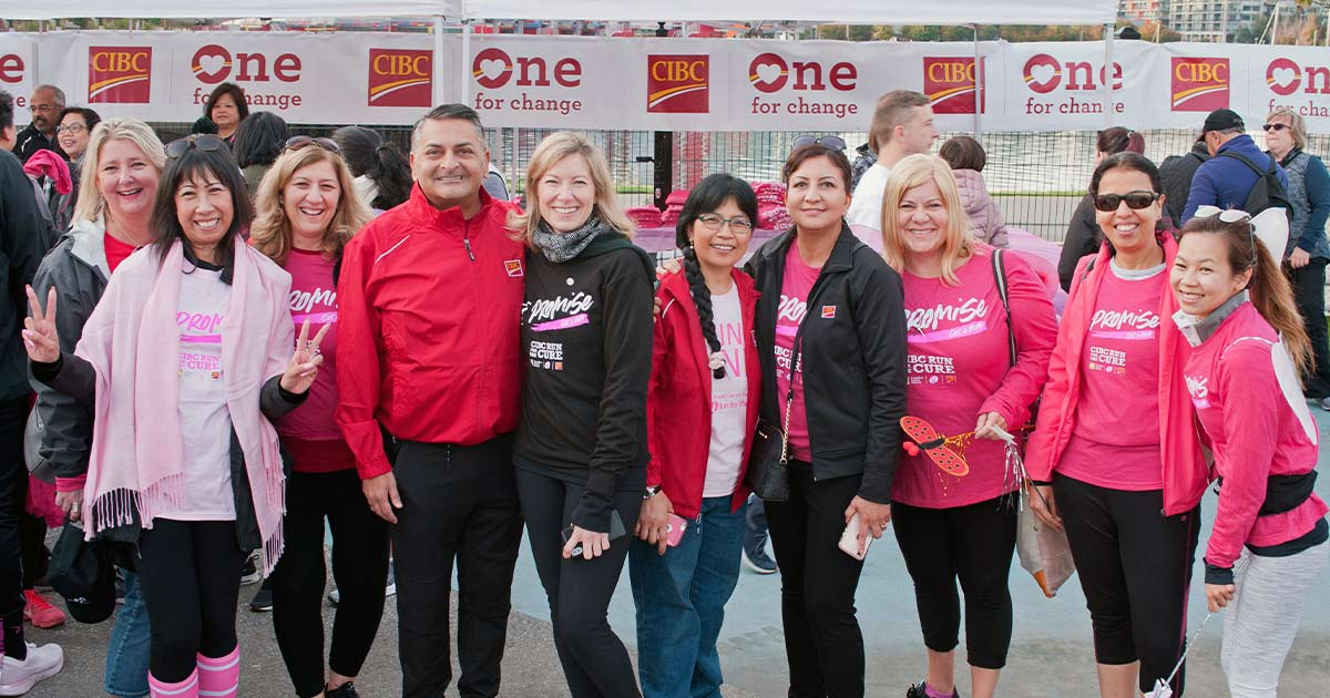 Participants in Run for the Cure 2019 in Vancouver