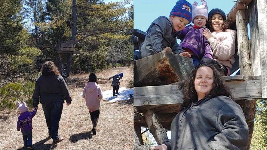 Sarah Walker and her children