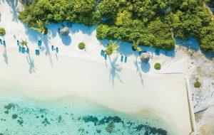 Aeiral view of a tropical beach