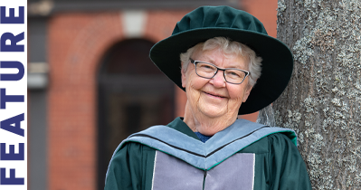 Dr. Olive Bryanton in her academic robes