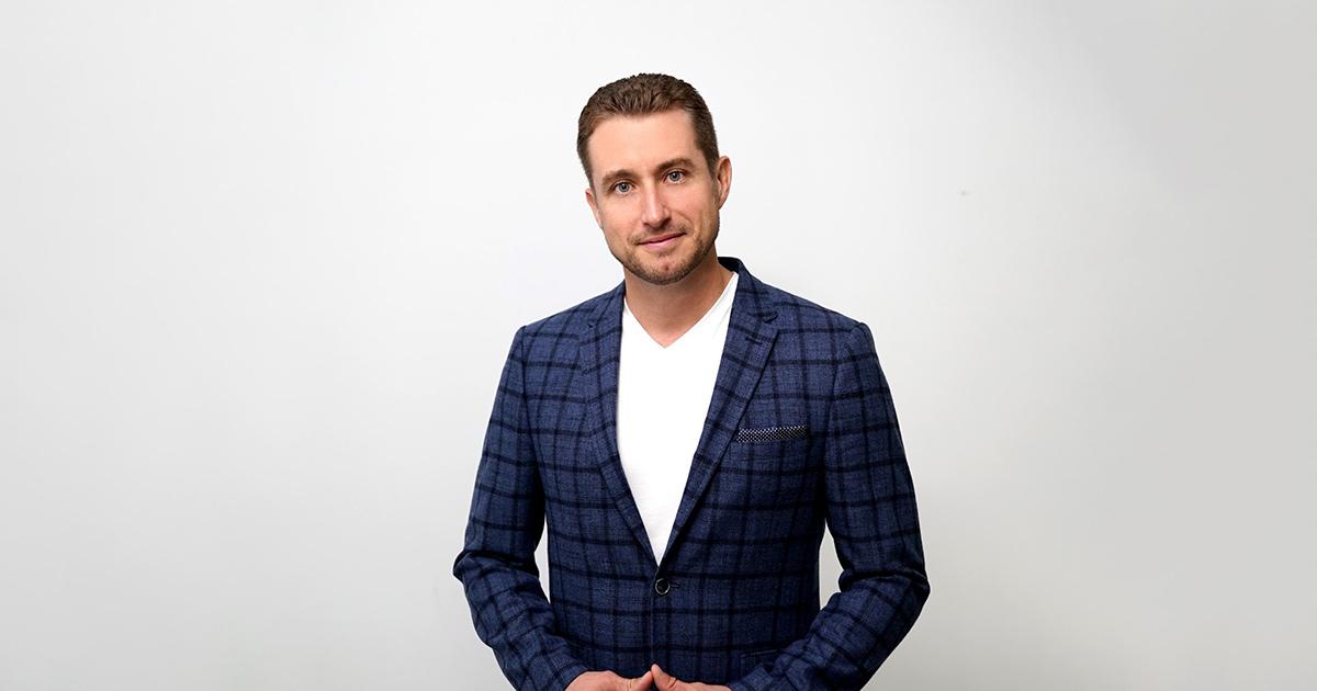 Bryce Wylde in a suit jacket