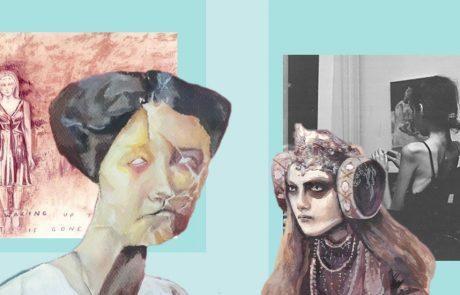 Collage of Rebecca Van Fraassen's art