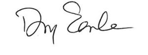 Doug Earl's signature