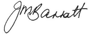Dr. Jane Barratt's signature
