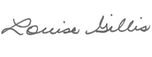 Louise Gillis' signature