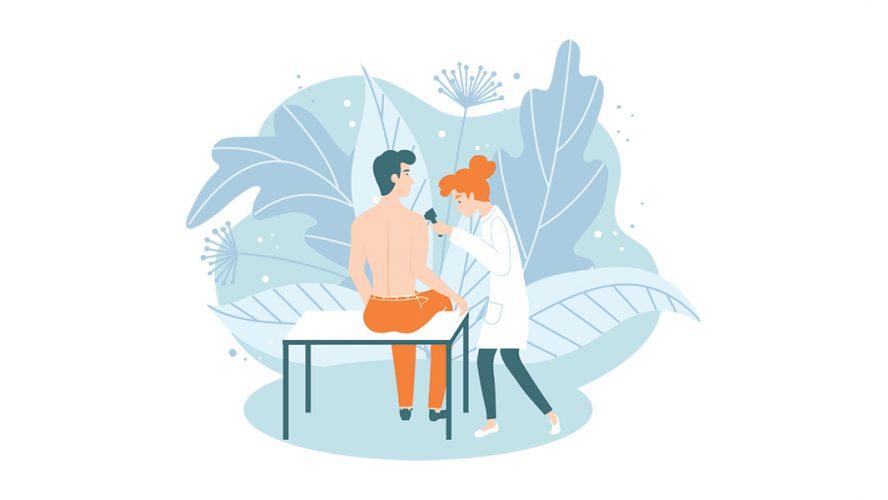 Nurse And Patient Illustration