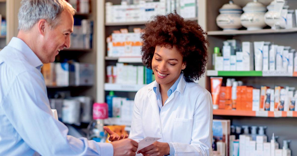Pharmacist Taking Order
