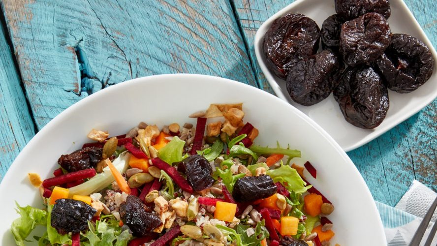 Salad and Bowl of Prunes