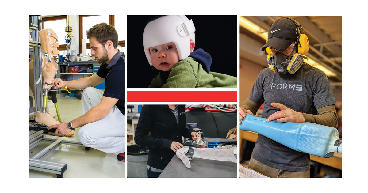 Various Pictures of workers and a baby