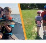 siblings fishing walking cancer care