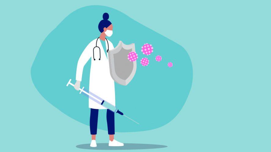 Cartoon of doctor