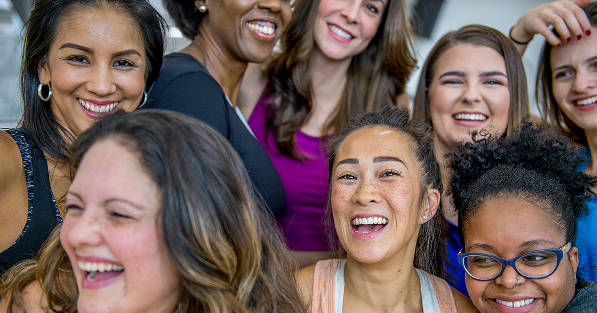 Group of women smiling