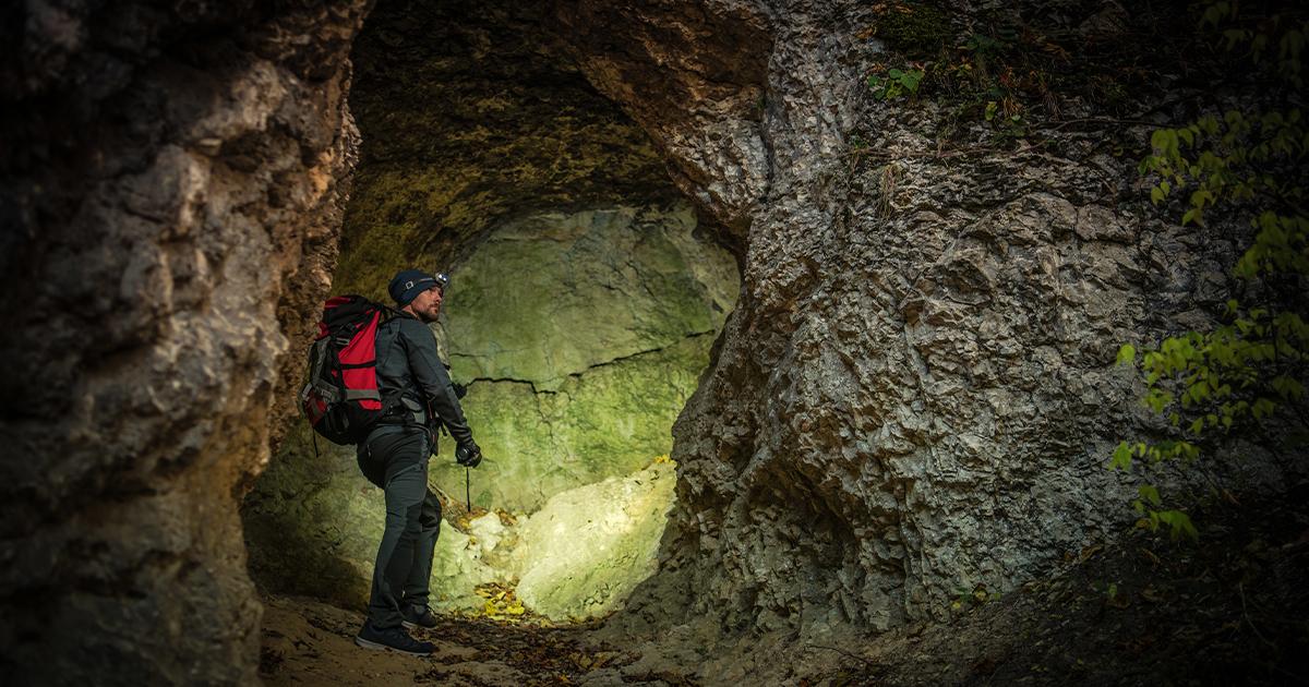 Hiker underground