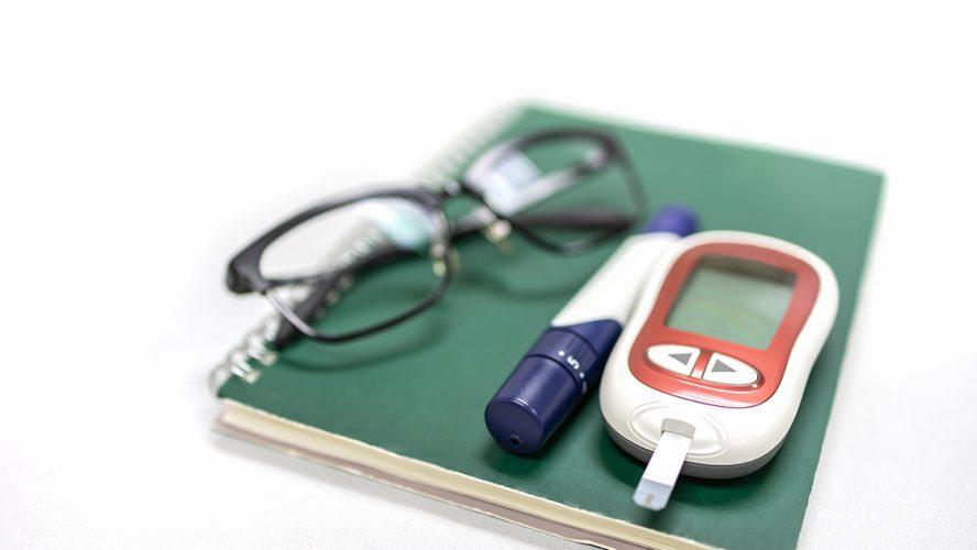 diabetic tracker book glasses