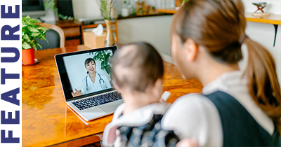 mother child laptop