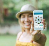 curatio woman phone app