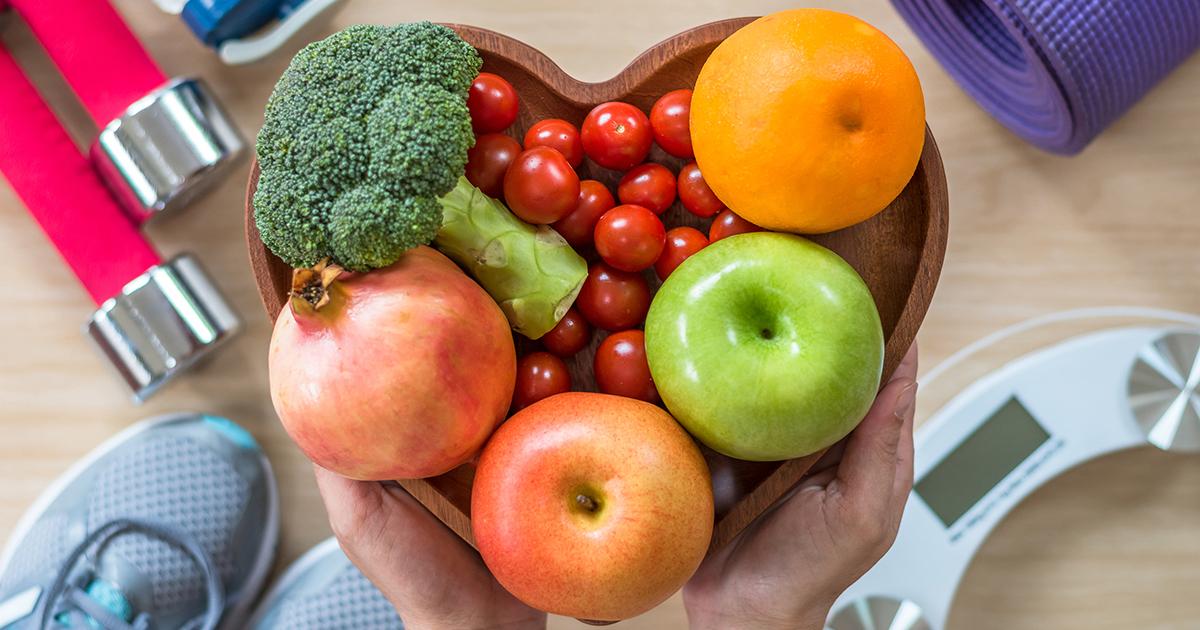 Healthy Living - Heart Shaped Fruit Bowl