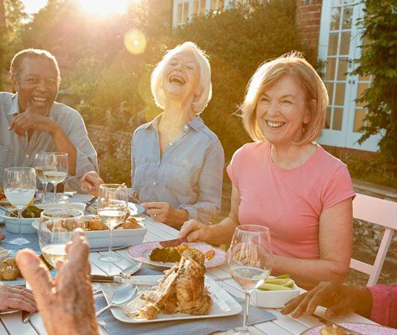 seniors dinner party