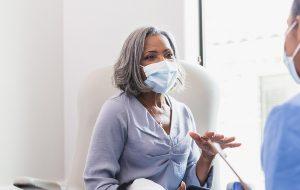 old woman vaccine doctors