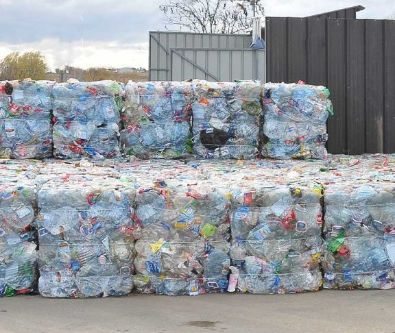 Piles of plastic waste