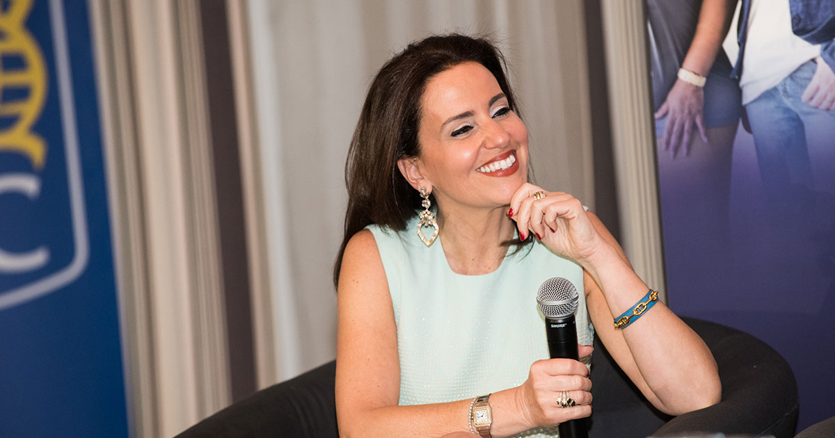 Caroline Codsi speaking at an event