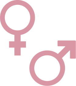 Icon of male and female symbols