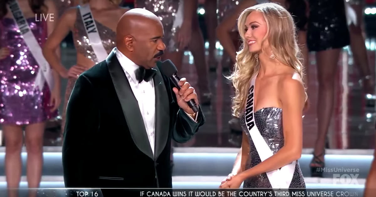 Lauren Howe in the Miss Universe competition