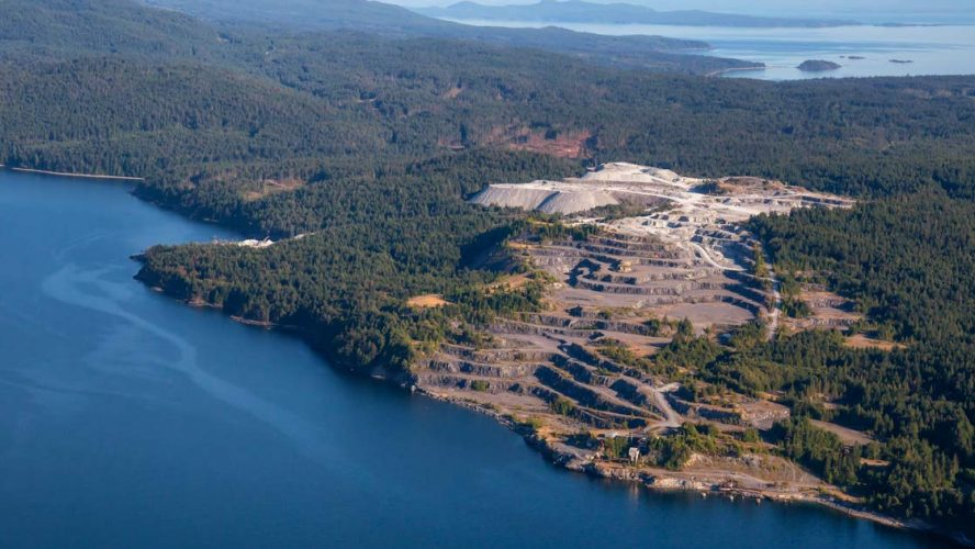 Aerial view of a mining operation