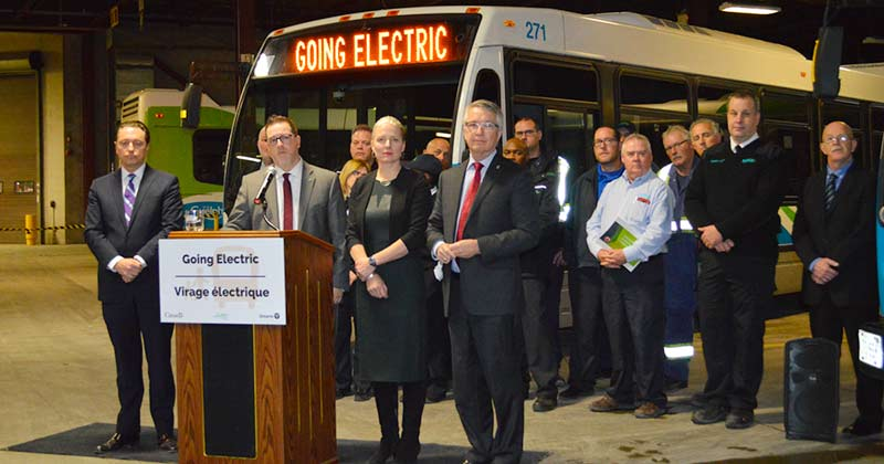 Guelph Transit announces the funding of 65 long-range electric battery buses