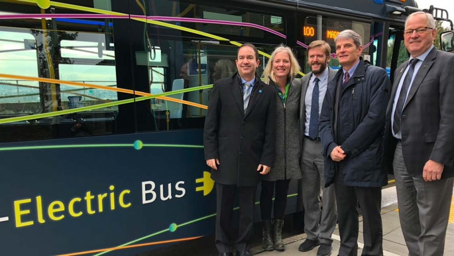 Minister McKenna tours the TransLink facilities