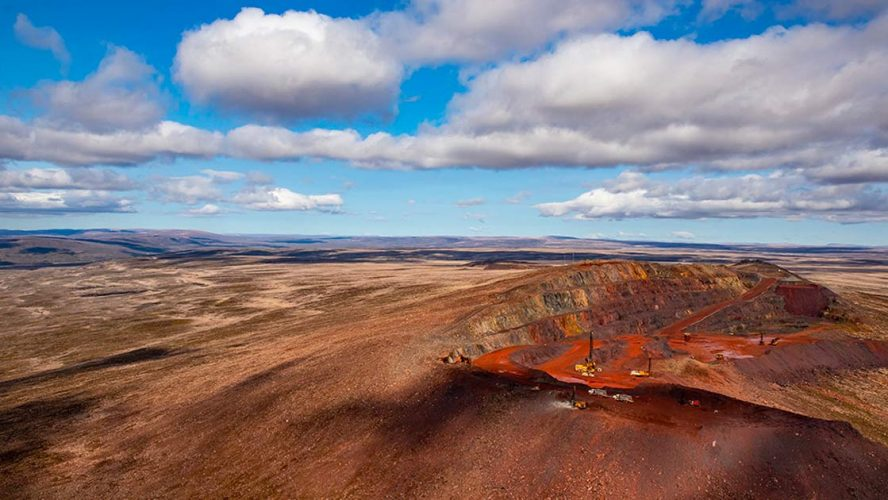 Ore mine on Baffin Island