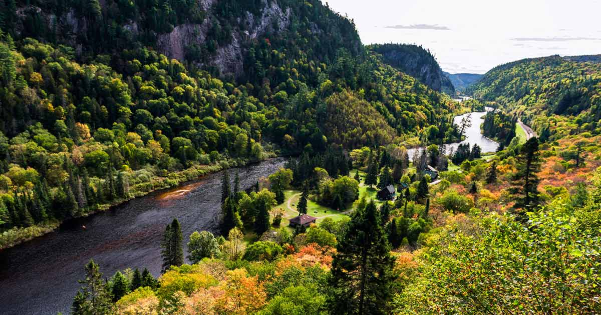 River flowing through the Agawa Canyon