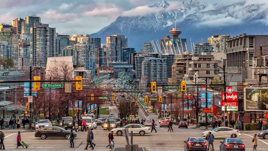 Bustling downtown Vancouver
