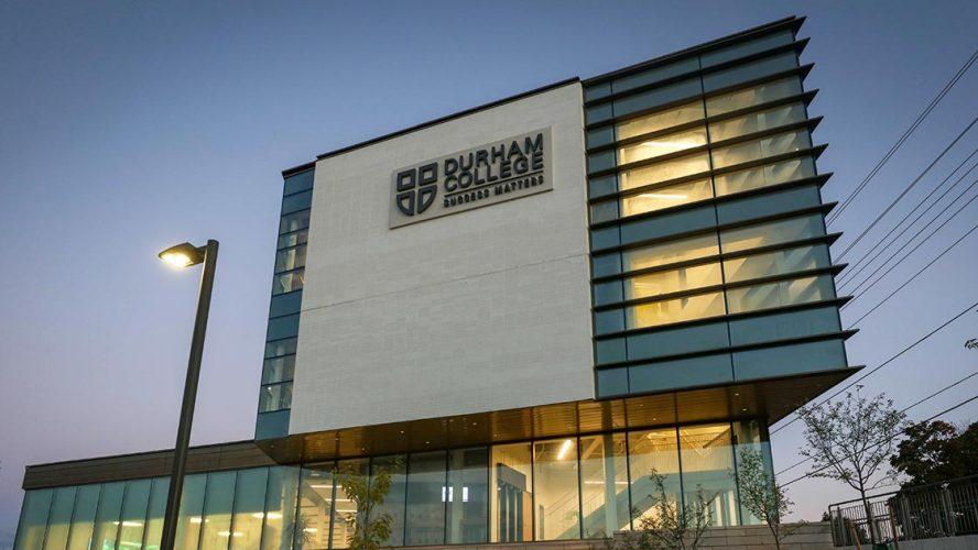 Durham College at dusk