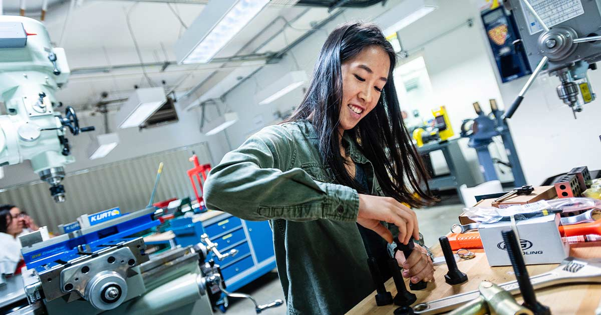 Entrepreneur in the workshop