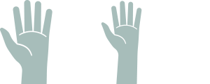 Illustration of four hands reaching up