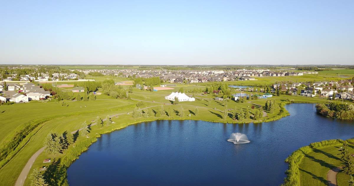 Landscape of Beaumont, Alberta