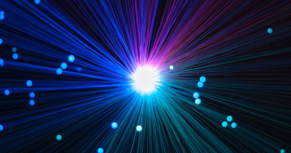 Looking into a fibre optic light