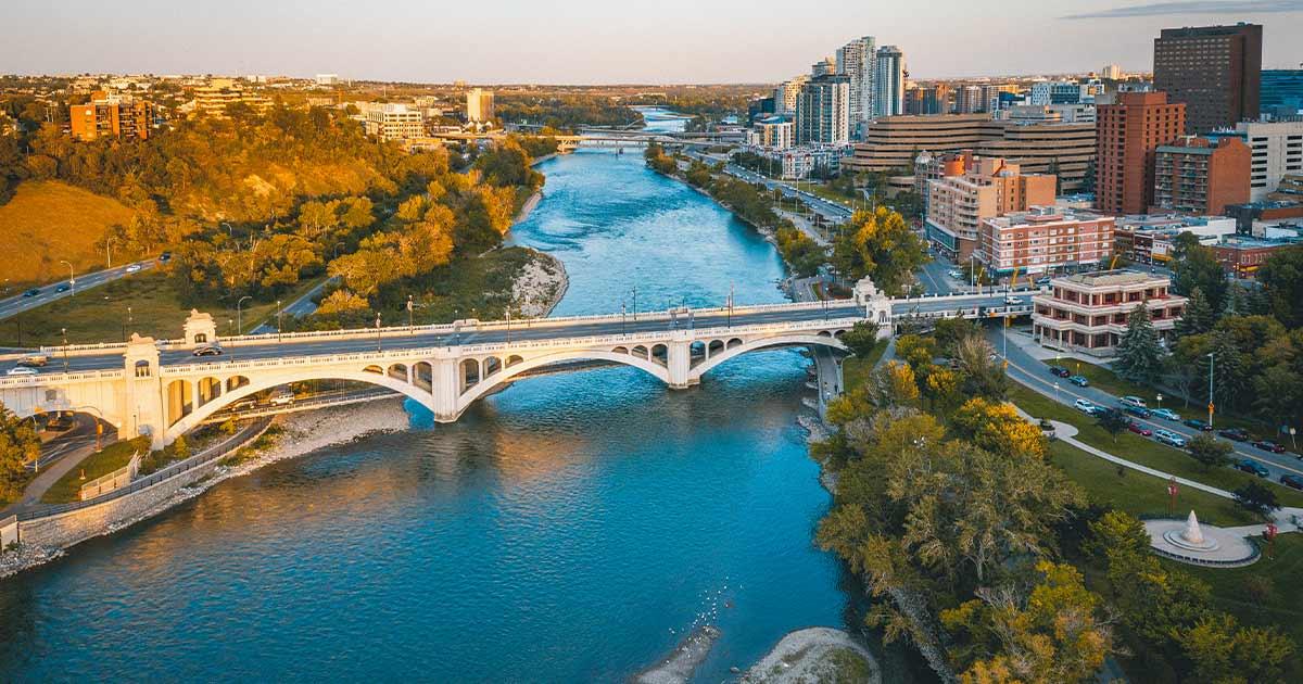 Bridge in downtown Calgary
